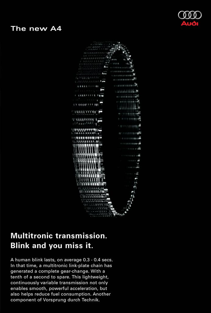 Audi A4 Multitronic Transmission Poster