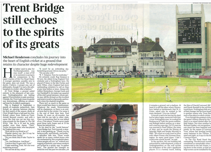 Branding, marketing and signage: Trent Bridge